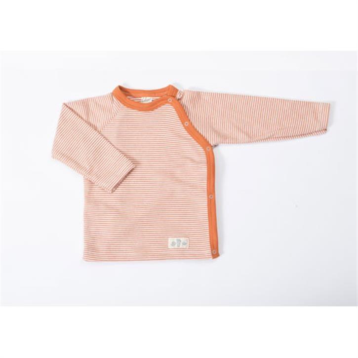 Lilano Shirt 1/1-Arm mit seitlicher Knopfleiste terra-ringel 74