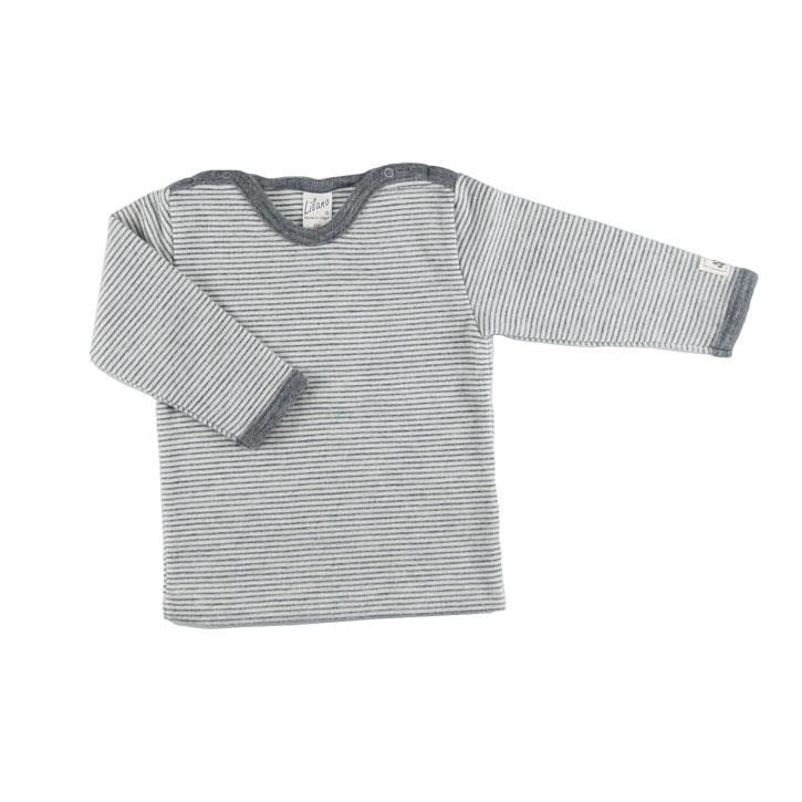 Lilano Shirt 1/1-Arm, Schulterverschluss grau-ringel