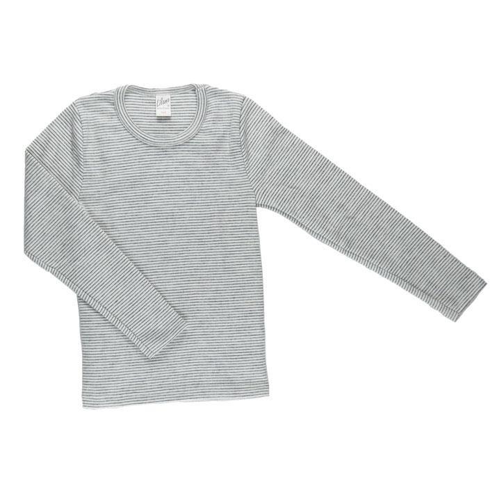 Lilano Unterhemd 1/1-Arm grau-ringel