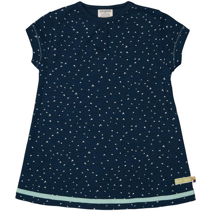 loud + proud Kleid Waffel Ultramarin