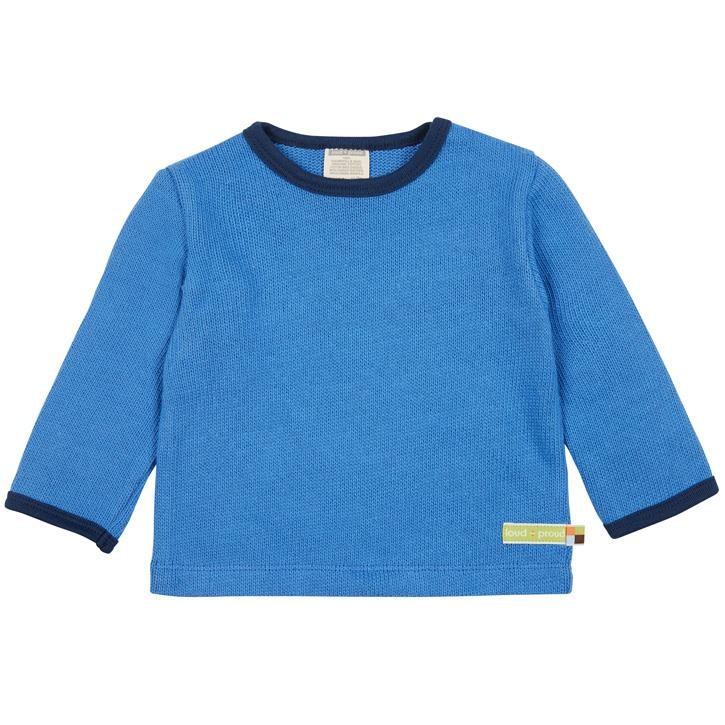 loud + proud Langarm Shirt Strick Indigo