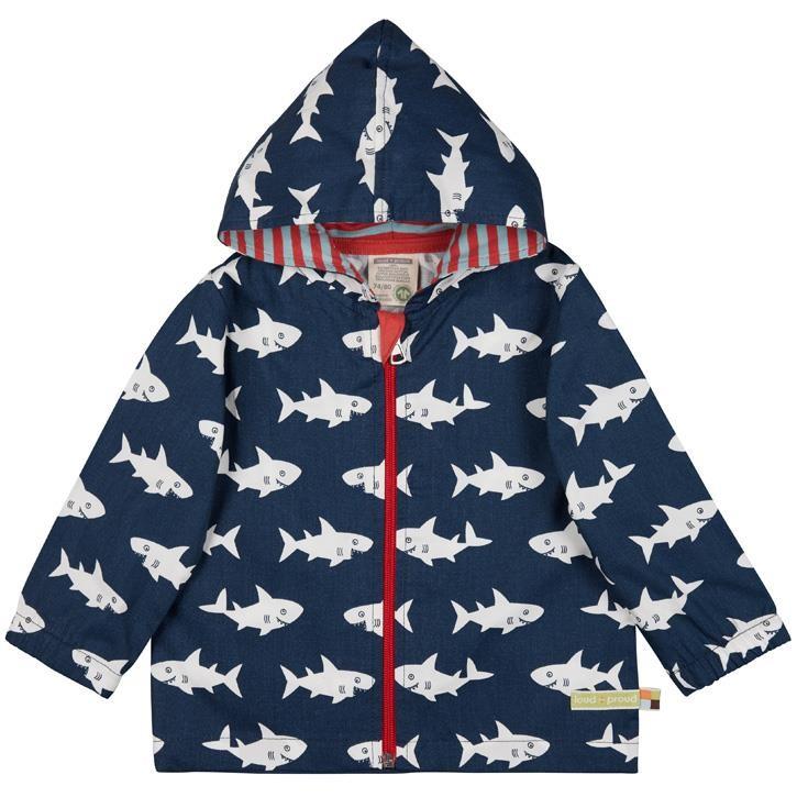 Loud+Proud Outdoorjacke Hai/ Fisch 100% Baumwolle (kbA)