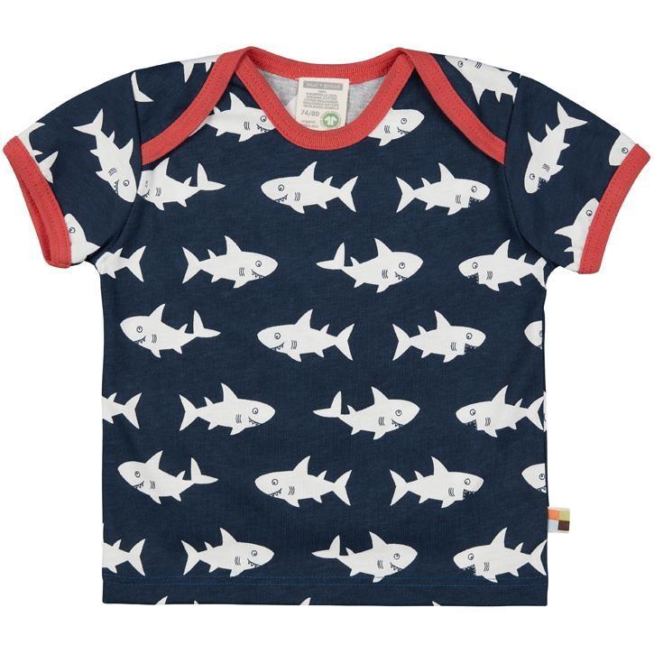 Loud+Proud T-Shirt kurzarm Hai Ultramarin 100% Baumwolle (kbA)