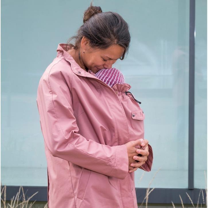 Mamalila Kurzmantel zum Babytragen khaki