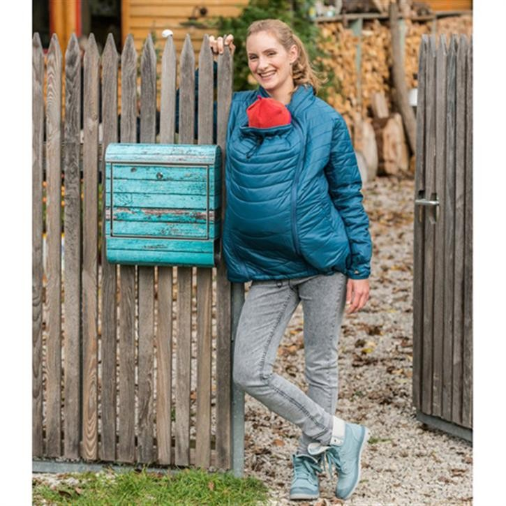 Mamalila Stepp-Tragejacke blueberry