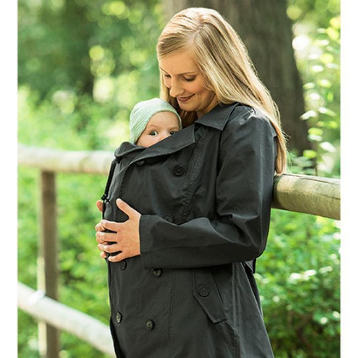 Mamalila Trenchcoat zum Babytragen  anthrazit S
