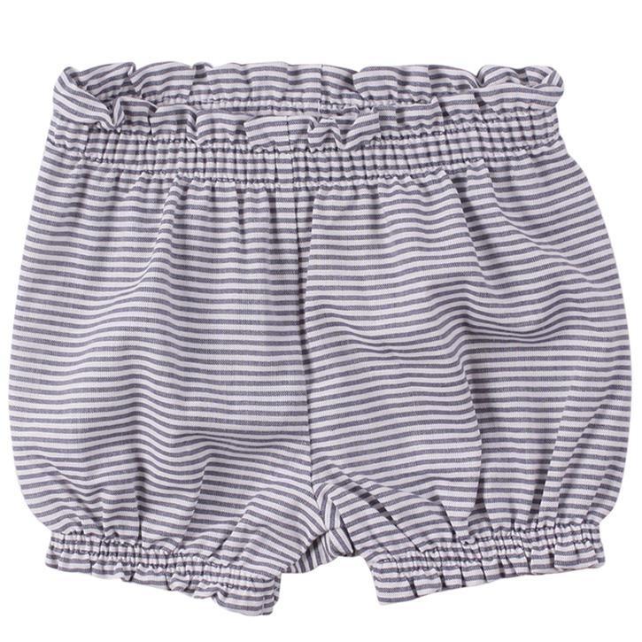 Müsli Babyshorts White/blue stripe CO/100