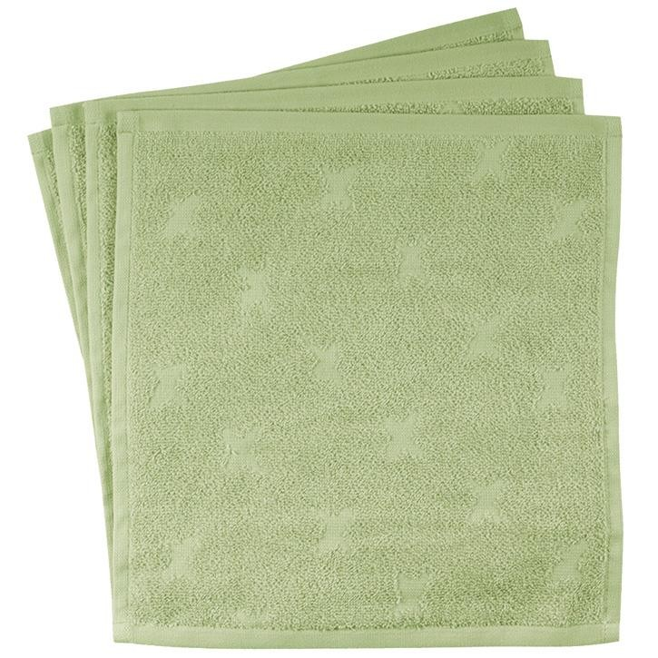 Müsli Waschlappen 4-pack  30x30 Pale moss CO/100