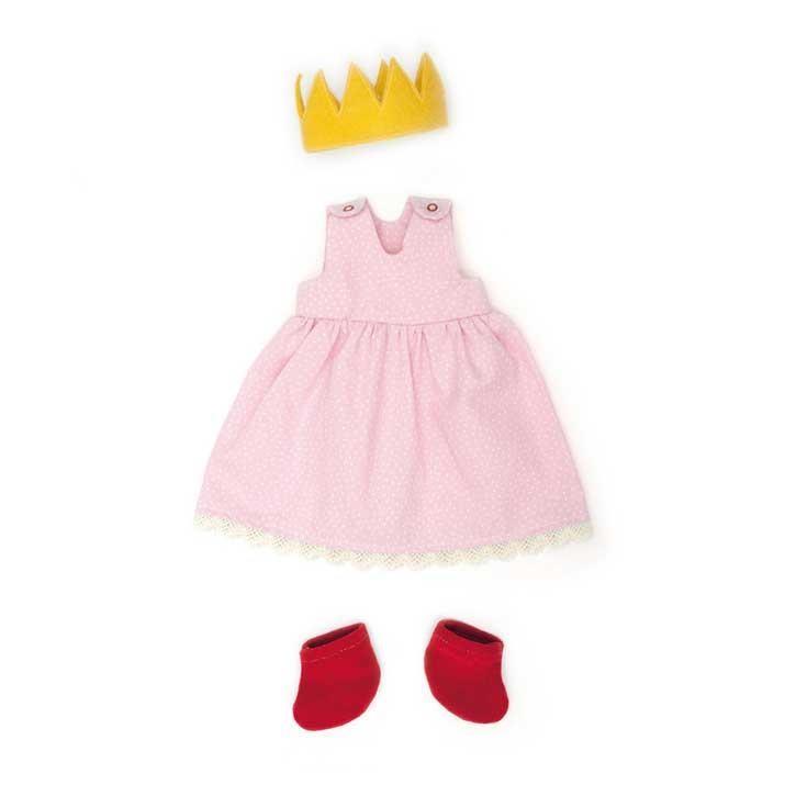 Nanchen Bekleidungsset Prinzessin rosa 35cm 612403