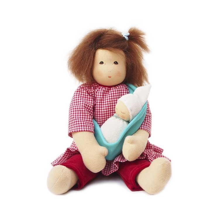 Nanchen Mama mit Baby im Tragetuch 38cm 331408