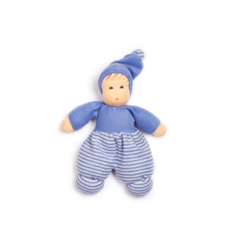 Nanchen Mini Möpschen blau gestreift 23cm 163444