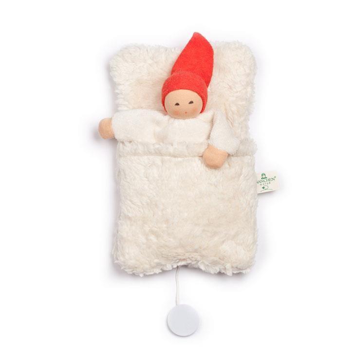 Nanchen Spieluhr Nucki im Schlafsack    22cm 539402
