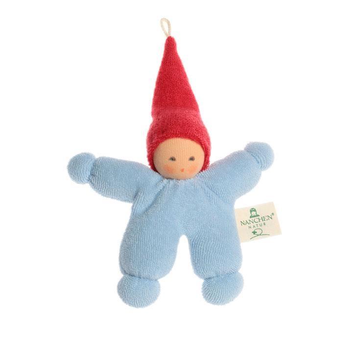 Nanchen Wichtel blau-rot 11cm 172404