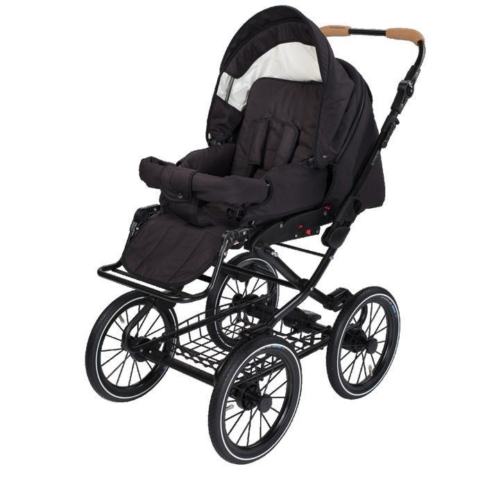 Naturkind 1081322 Kinderwagen VITA mit 14 Zoll Luftrad, Gestellfarbe schwarz Design: Panther