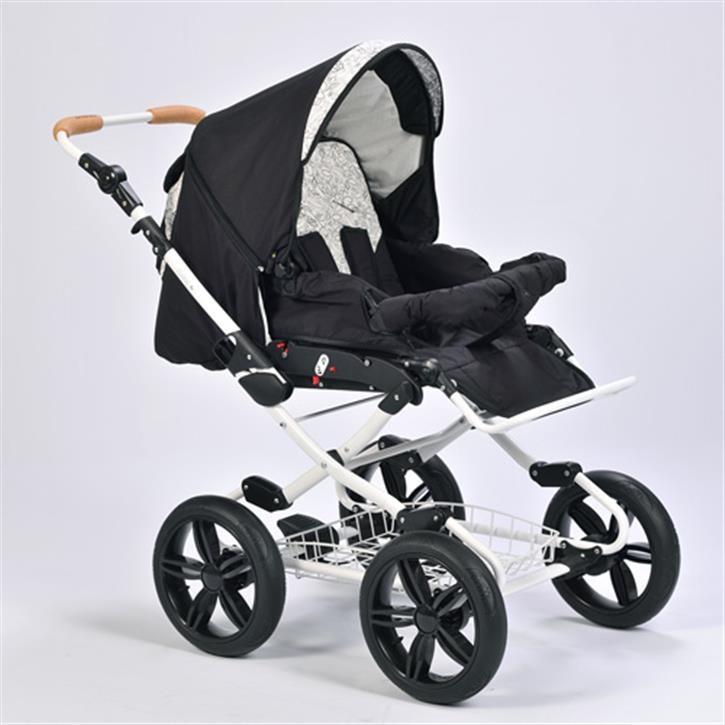 Naturkind Kinderwagen Vita, Design Nachtfalter Sportwagen (Standard) / 14 Zoll Luftbereifung / weiß