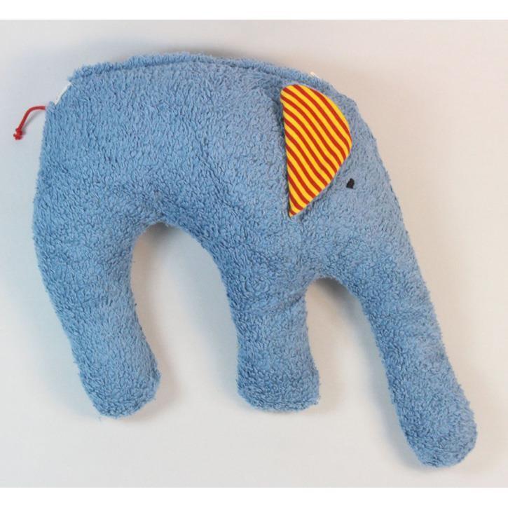 Pat und Patty Elefant blau Kuschelkissen 28 x 35 cm