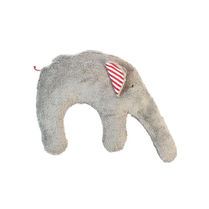 Pat und Patty Elefant grau Kuschelkissen 28 x 35 cm