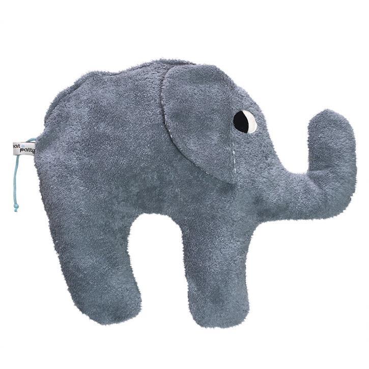 Pat und Patty Elefant grau Kuschelkissen 34 x 43 cm