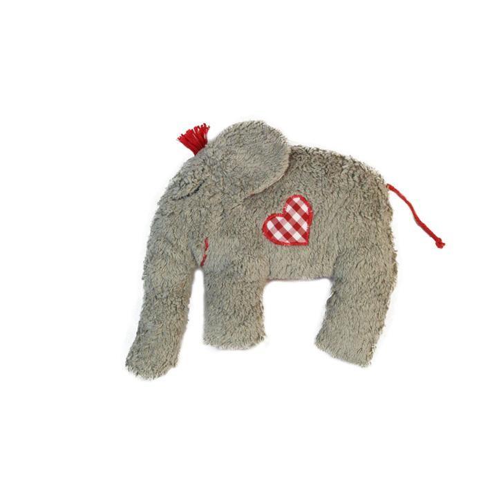 Pat und Patty Elefant grau mit Knisterfolie im Ohr Rassel 19 x 20 cm