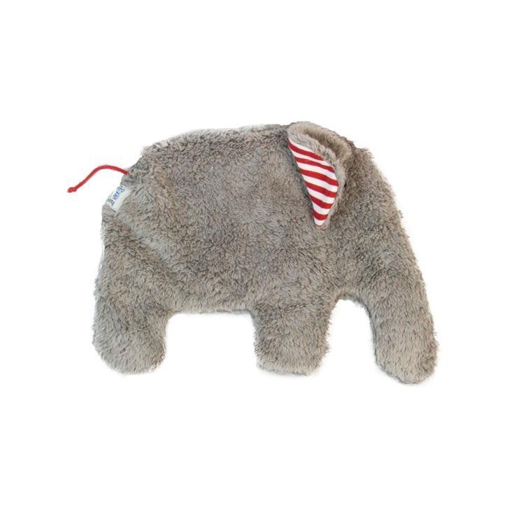 Pat und Patty Elefant grau Wärmekissen 25 x 30 cm