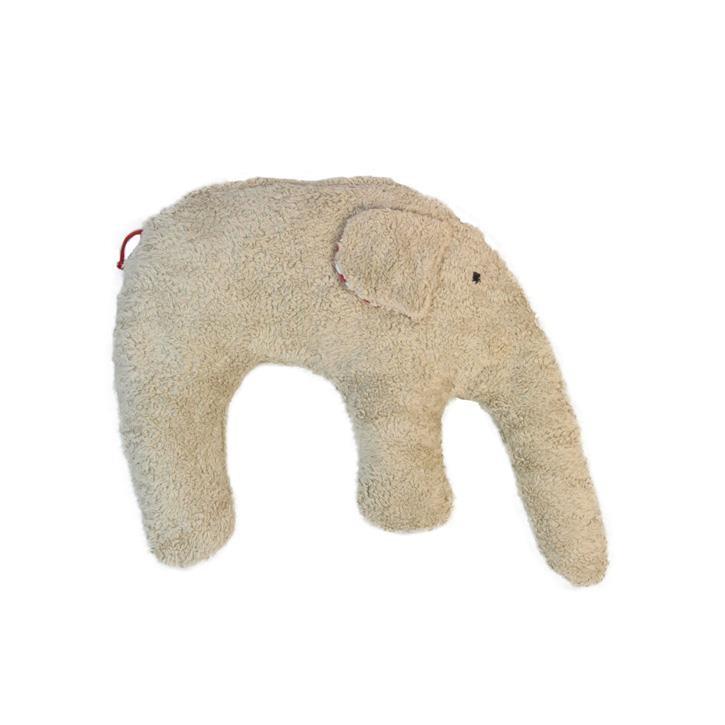 Pat und Patty Elefant hellbraun Kuschelkissen 28 x 35 cm