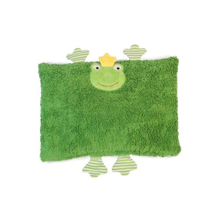 Pat und Patty Frosch grün Kuschelkissen 24 x 36 cm
