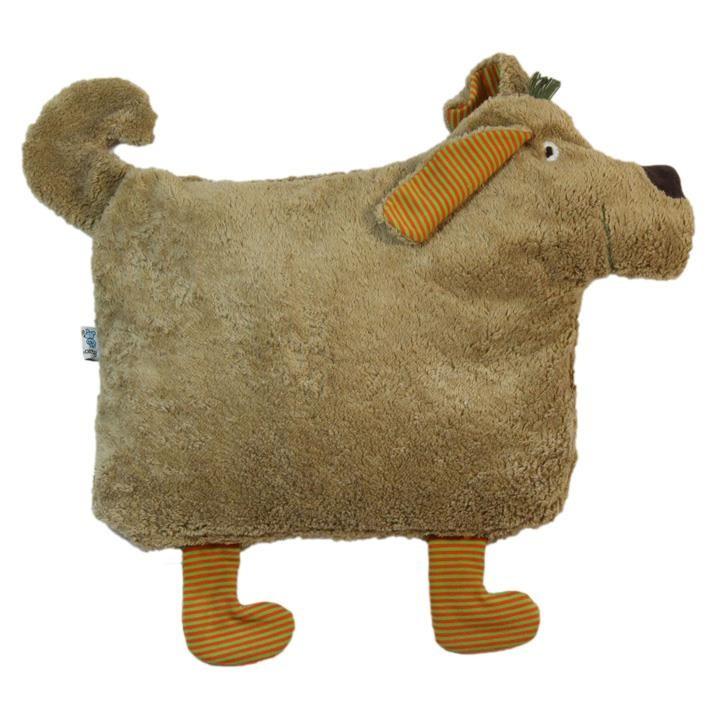 Pat und Patty Hund braun Kuschelkissen 34 x 52 cm