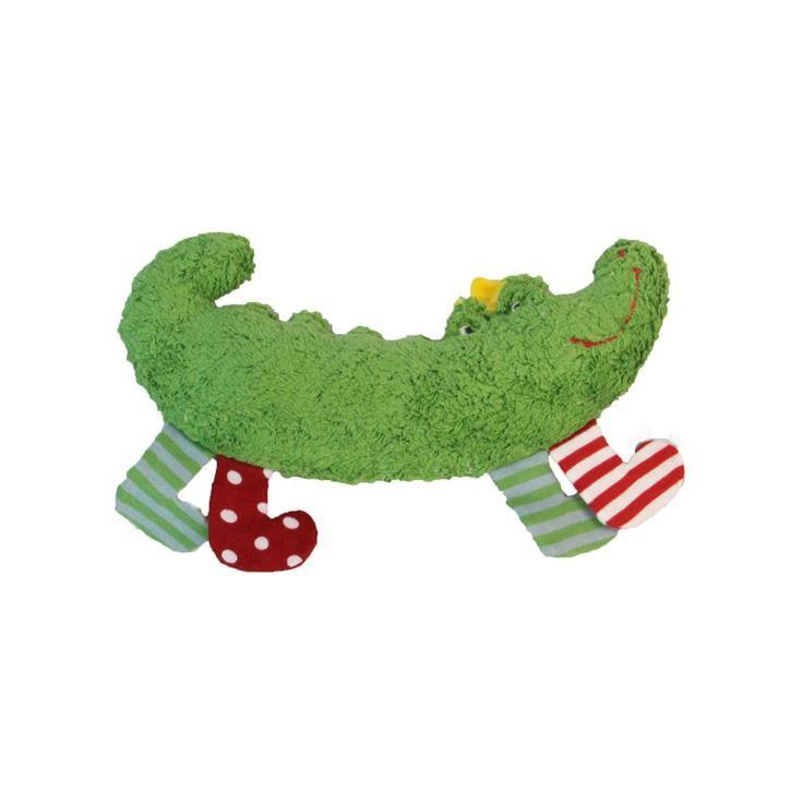 Pat und Patty Krokodil grün Rassel 11 x 26 cm