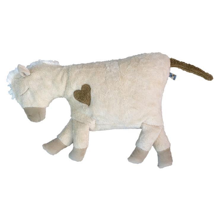 Pat und Patty Pferd weiss Kuschelkissen 37 x 53 cm