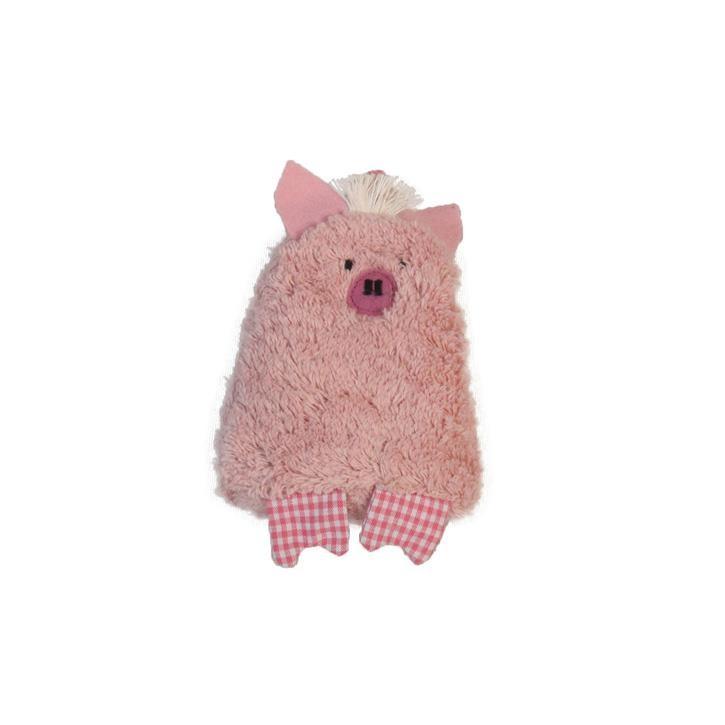 Pat und Patty Schwein rosa Lavendel Mini Kissen  11 x 12 cm