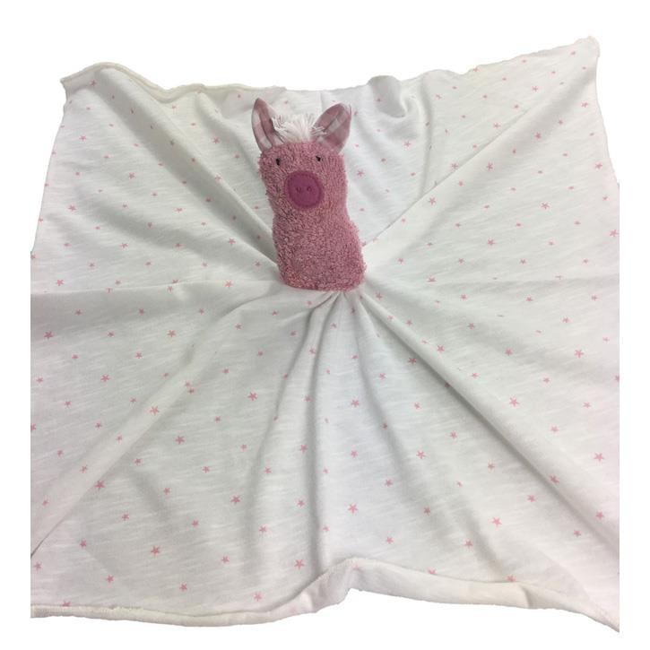 Pat und Patty Schwein rosa Schnuffeltuch Trösterchen 10 x 35 cm