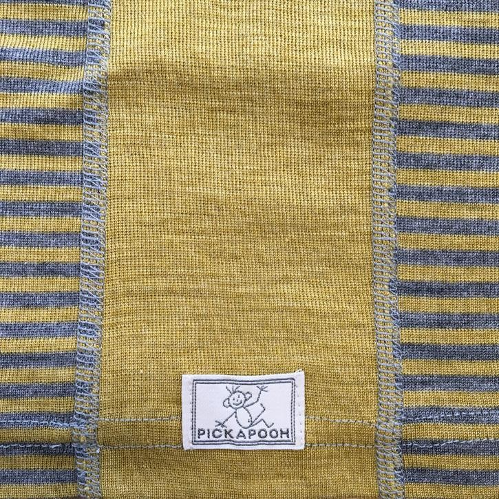 Pickapooh Strunzl, Wolle/Seide, 2 / dijon/grau gestr. Ltd. Edition