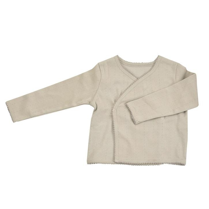 Pigeon Kimono Jacke beige, pink, türkis 100% Bio-Baumwolle