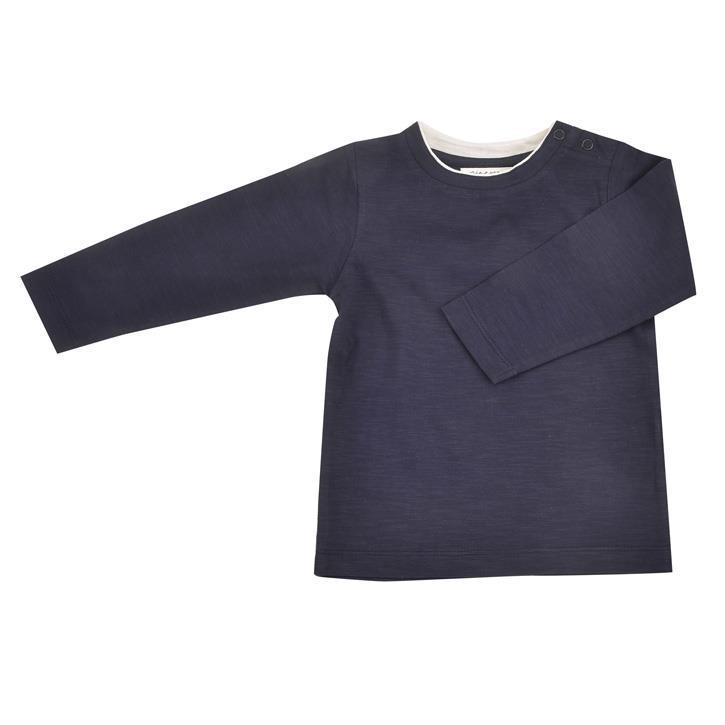 Pigeon Langarm Shirt  marine 100% Bio-Baumwolle