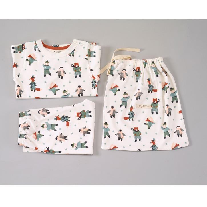 Pigeon Pyjama mit Tasche, Eislauftiere