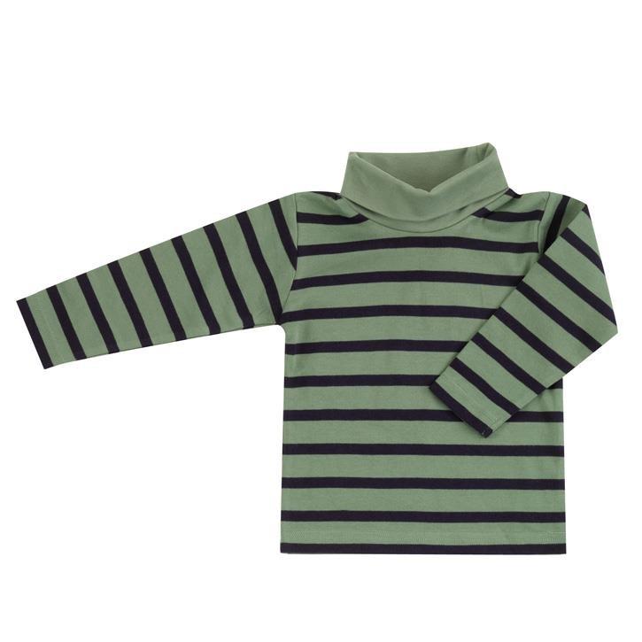 Pigeon Rollkragen Shirt (Streifen), grün/navy