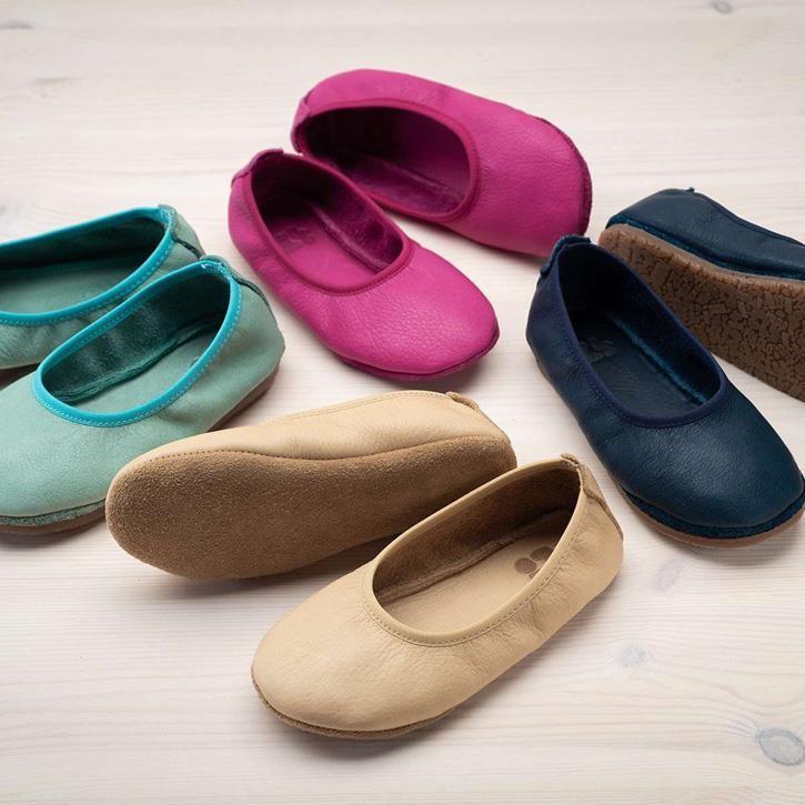 Pololo Barefoot Ballerina Outdoor Pink, Grün, Blau TPR-Sohle