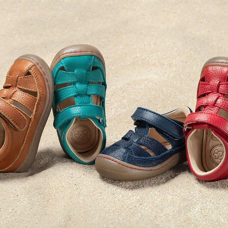 Pololo Verano Sandale braun, türkis, blau, rot