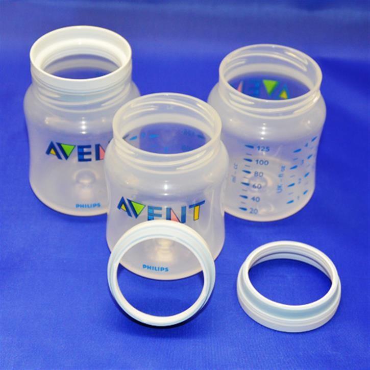 PP Classicflasche, Flaschenkörper mit Ring, SCF680/17, 125ml, Dreiersparpack