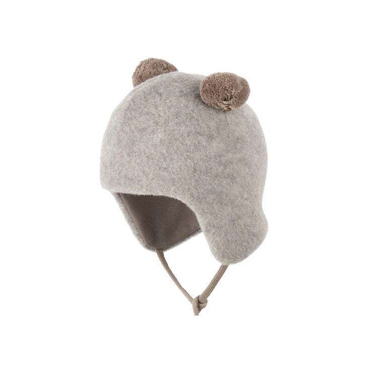 PurePure Baby-2-Bommel-Mütze moonrock