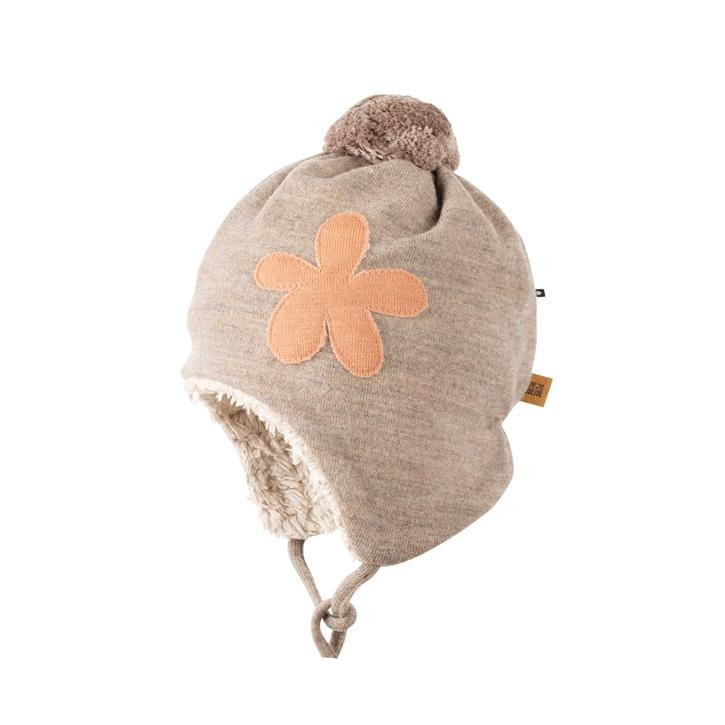 PurePure Baby Bommel-Mütze kaschmir