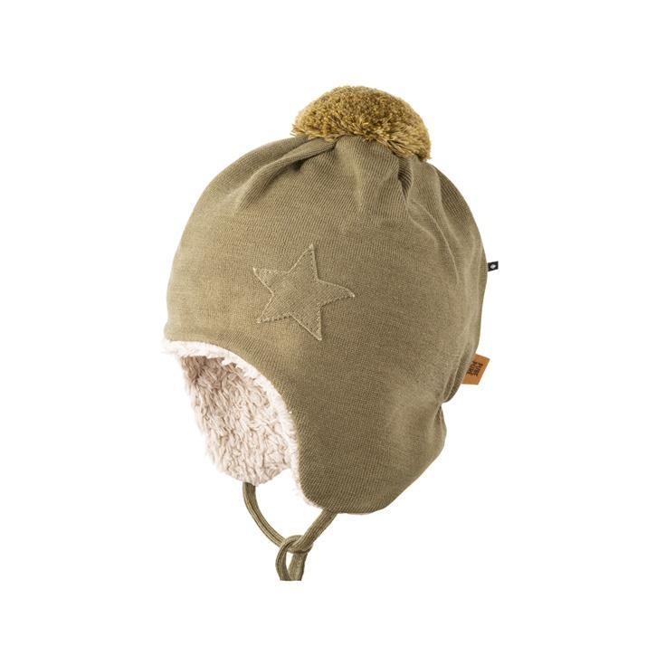 PurePure Baby Bommel-Mütze moos