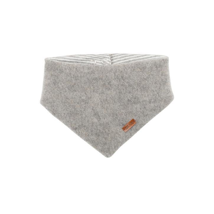 PurePure Baby-Halstuch Fleece moonrock 100% Bio-Merinowolle kbT 100% Bio-BW kbA