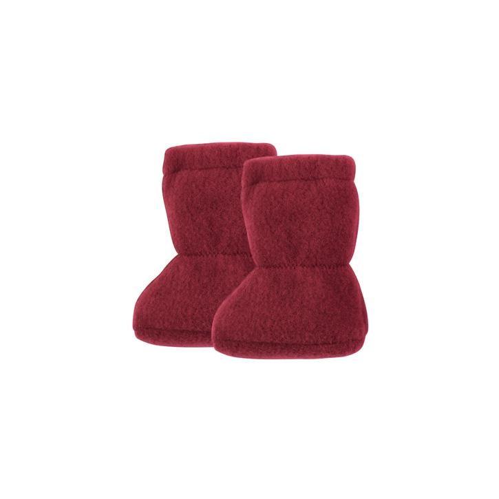 PurePure Baby Stiefel Fleece burgundy 100% Bio-Merinowolle kbT