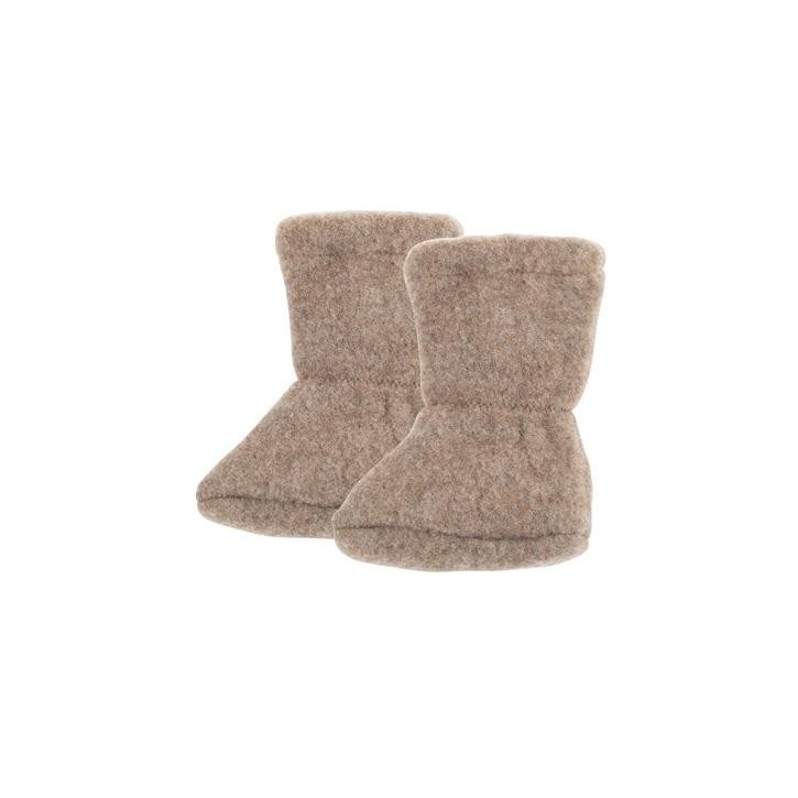 PurePure Baby Stiefel Fleece walnuss 100% Bio-Merinowolle kbT