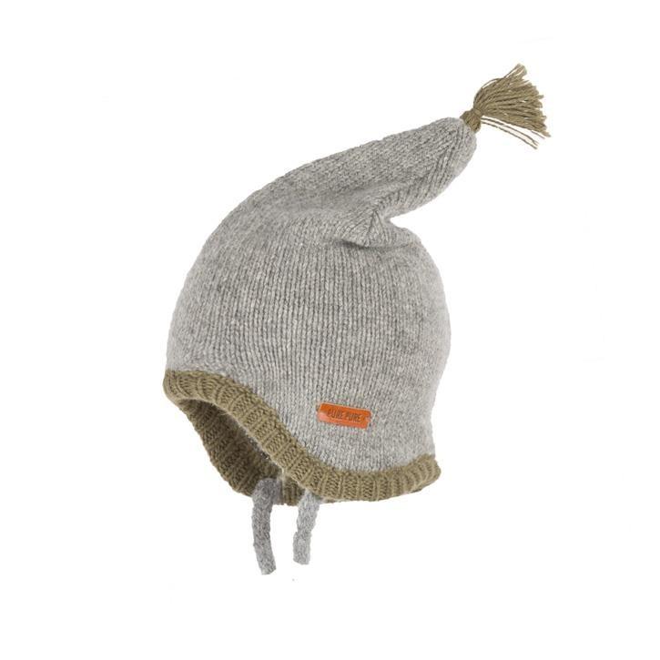 PurePure Baby-Zipfel Alpaka grau melange
