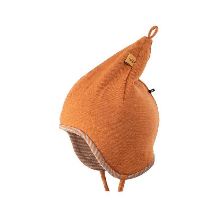 PurePure Baby Zipfel-Mütze karamell