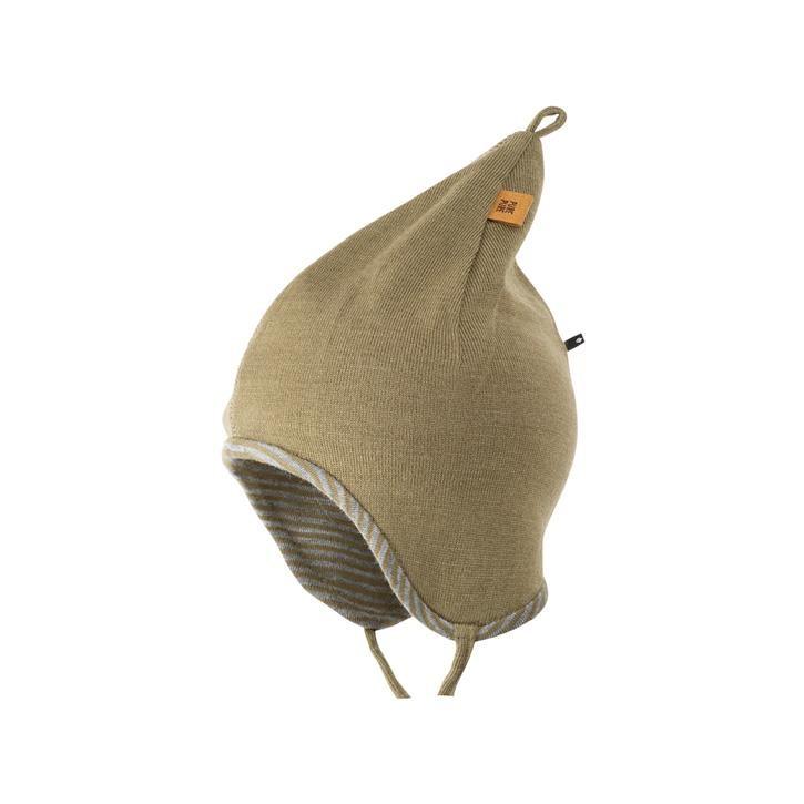 PurePure Baby Zipfel-Mütze moos