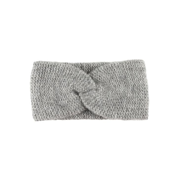 PurePure Damen Stirnband ONESIZE graumelange 55%BabyAlpaka/10%Merino/35%BW