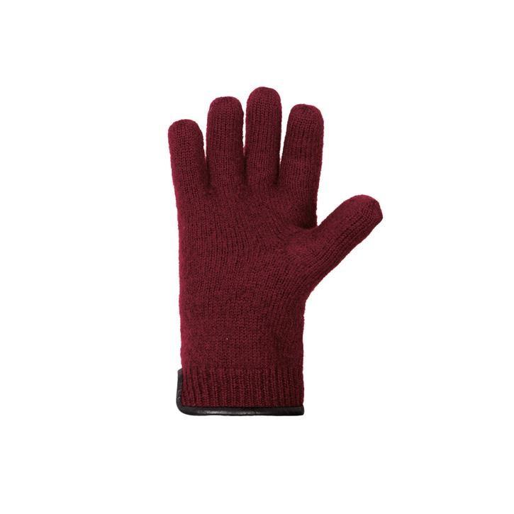 PurePure Erw.Handschuh Walk burgund 100% Schurwolle Walk